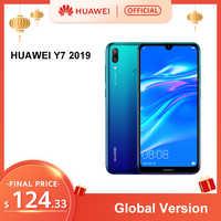 Version mondiale HUAWEI Y7 2019 Smartphone 3GB 32GB 4000mAh 6.26 pouce Face ID déverrouiller double caméra AI Snapdragon 450 téléphone Android