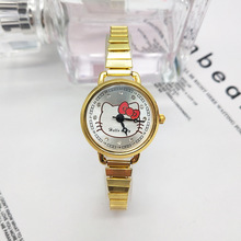 Kt cat female watch cartoon children watch stainless steel s