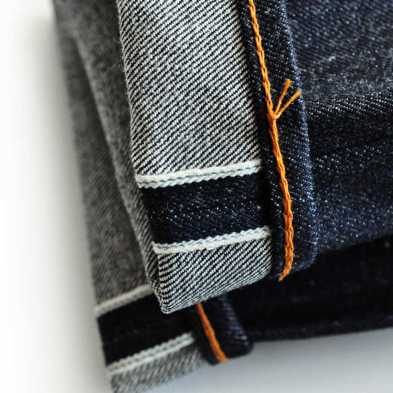 SAUCE HERKUNFT 916-CL Gerade Fit Jeans Männer Herren Jeans Marke Selvedge Jeans Raw Denim Jeans Amerikanischen Baumwolle vintage biker jeans