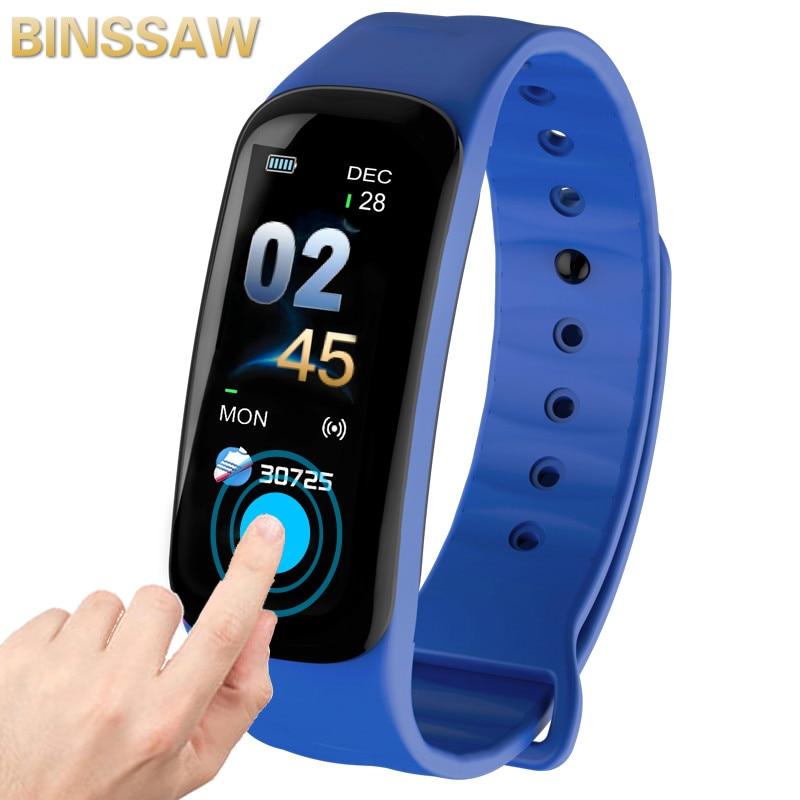 BINSSAW 2019 Smart armband Farbe bildschirm Wasserdicht armband herz rate monitor blutdruck messung Fitness tracker band uhren