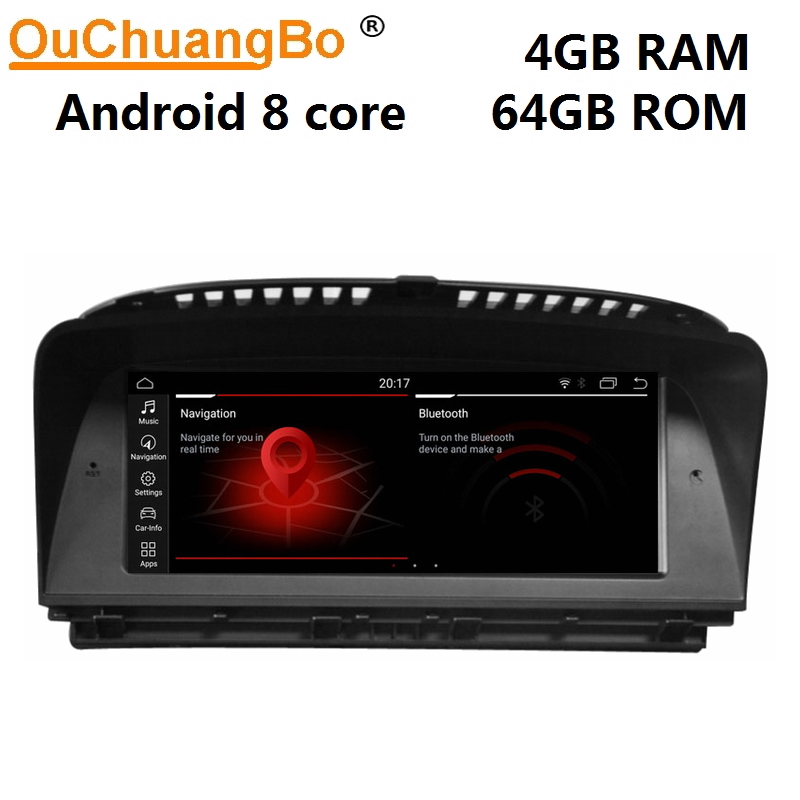 Ouchuangbo Radio Multimedia Player For 7 Series E65 E66 (2001-2012)  Audio Stereo With  8.8 Inch Android 9.0 Gps 8 Core 4GB+64GB