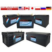 Nuovo pacco batteria 12V 40 60 80 100 120 200Ah LiFePO4 con batterie al carrello da Golf BMS al litio 3000 cicli camper camper fuoristrada
