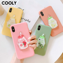 COOLY Avocado Strawberry Case For Xiaomi Redmi 7 K20 4A 5 5A 6 Pro 6A Back Cover on Note 4 4X Silicone Fruit Liquid Phone Coque(China)