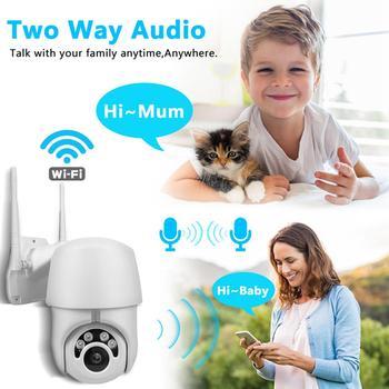A-ZONE מהירות כיפת CCTV חיצוני Wifi IP PTZ 360 מצלמה עמיד למים אוטומטי מעקב IR ראיית לילה 1080P רשת Surveilance מצלמה