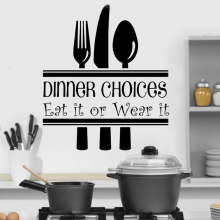 Dinner Choices Kitchen Wall Stickers for kitchen art home decoration Decal Vinyl restaurant removable wall Decal decor HY488