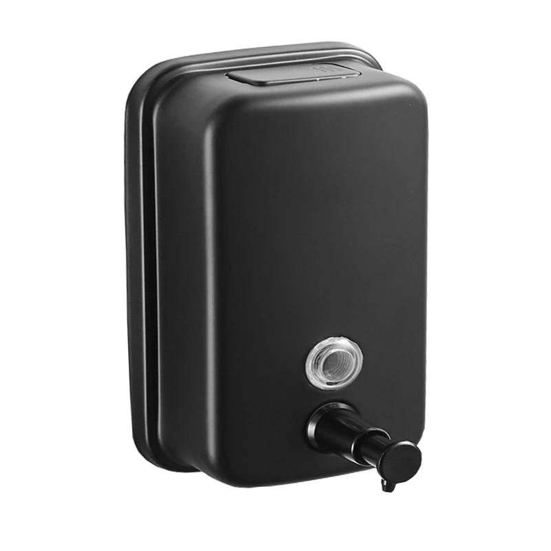 Soap Dispenser Wall mounted Black bathroom 304 Stainless Steel Shampoo bottles