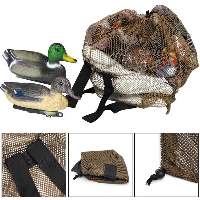 120cm x 75cm Duck Goose Turkey Decoy Bag Mesh With Shoulder Straps Bird Hunting Net Mesh for Hunting Backpack 3