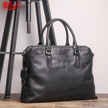New Men's Handbag Portable Briefcase Shoulder Messenger Bag Business Laptop Firs
