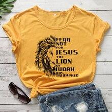 Camiseta con estampado de León
