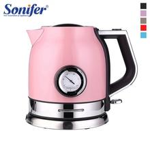 1.8L 304 נירוסטה קומקום חשמלי עם מים בקרת טמפרטורת מטר ביתי מהיר חימום חשמלי תה סיר Sonifer
