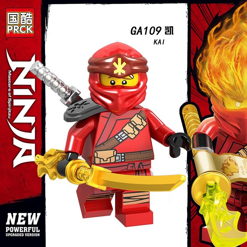 Single Sale LegoINGlys Ninja Mini Figure ZANE Wu KAI LLOYD NYA COLE ICE EMPEROR Building Blocks Bricks Learning Gift Toys Boys