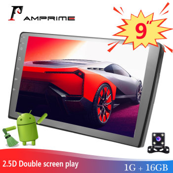 AMPrime 9 Android Car Multimedia Player 2 din Car Stereo Radio Bluetooth WIFI Audio Mirrorlink MP5 Player With Rear Camera image