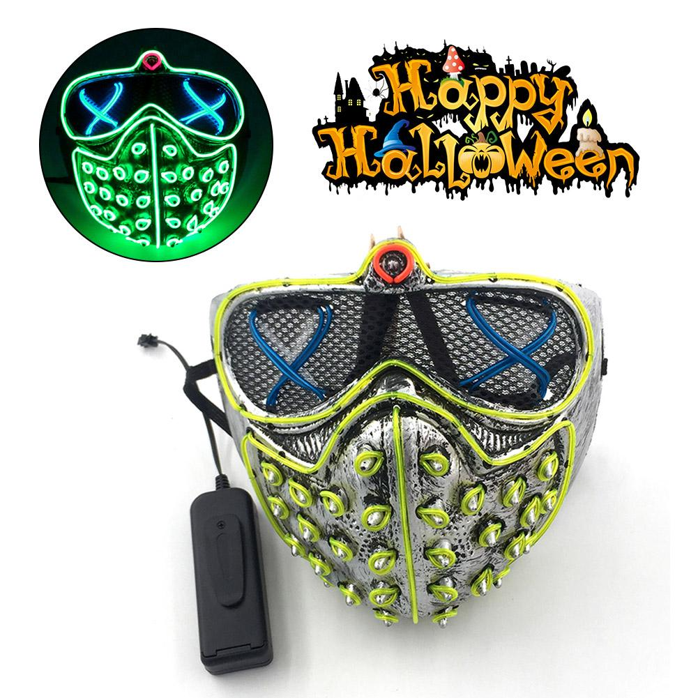 8 Style Scared Blood Scars EL Glowing Halloween Mask for Christmas Carnival Decoration Masquerade LED Party Scary Props in Party Masks from Home Garden