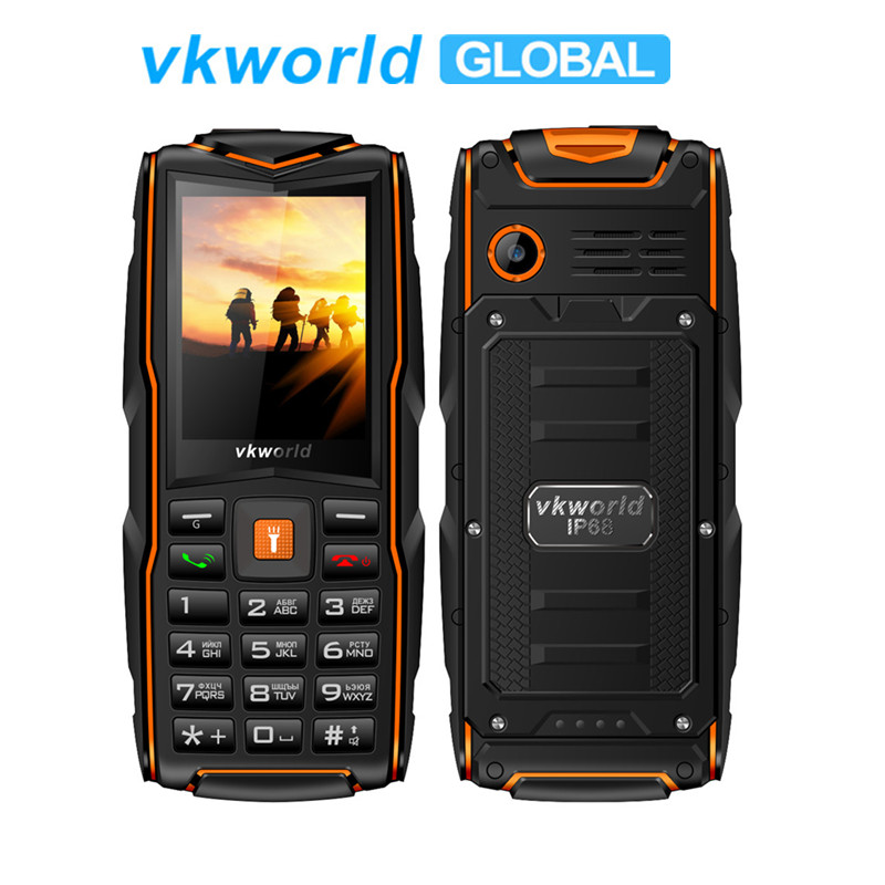 Vkworld New-Stone V3 GSM 2mp Keyboard Flash-Light Sim-Card-Slots Mobilephone Russian