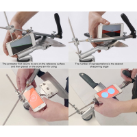 Hot Portable Fixed angle Knife Sharpener Knife Sharpening Kit Knife Slicker Edge Abrasive Holding System with 4 Sharpening Stone