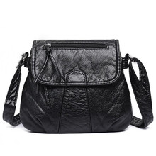 купить New Bags For Women 2019 Messenger Bags Crossbody Soft PU Leather Shoulder Bag Fashion Handbag Sac Main Femme Women Bag Purse по цене 726.86 рублей