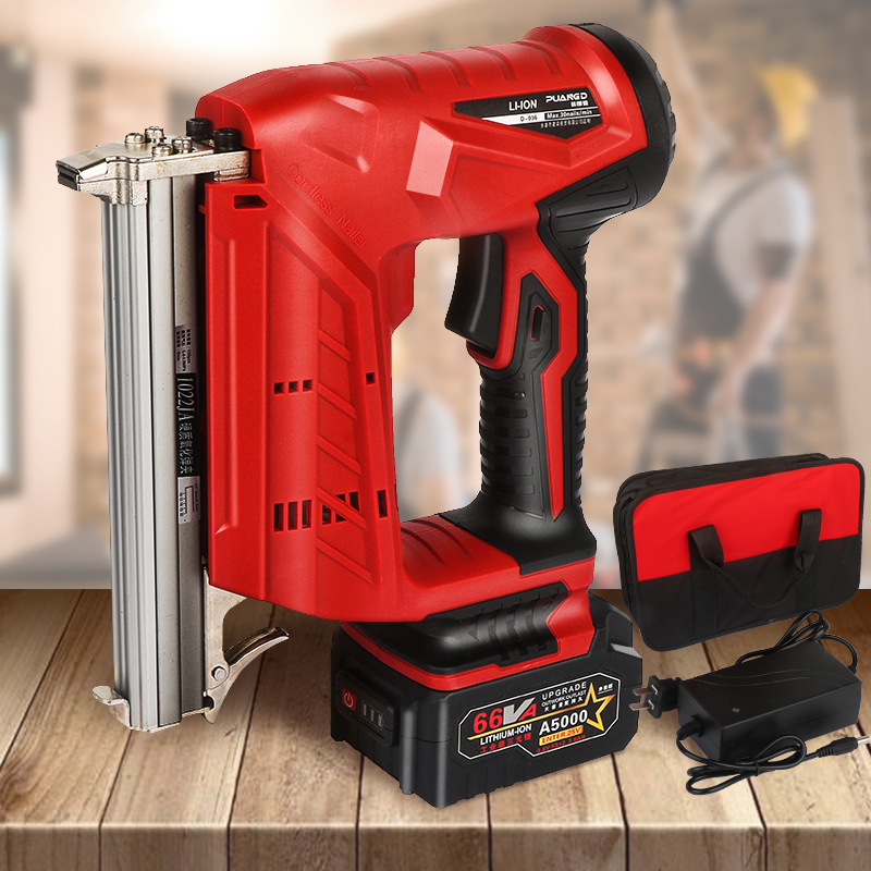 Lithium Power Straight 1022 Nail F30 422 Stapler Tools Nail 3AH Gun Portable Nail U Woodworking Rechargeable Optional Battery