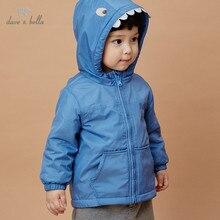 Hooded-Coat Dave Bella Toddler Outerwear Infant Baby Autumn Children Fashion Cartoon