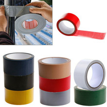 Duct Carpet Floor Tape Waterproof Cloth Seal Base Temperature Resist Single-Sided Tape Black/Red Fix Tape 10Mx50Mm 10Mx20Mm(China)