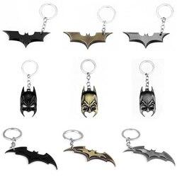 Cool Anime Batman Logo pendentif porte-clés porte-clés porte-clés voiture pendentif porte-clés pour femmes/hommes Fans bijoux cadeau