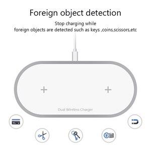 Image 5 - VVKing cargador inalámbrico para móvil, cargador inalámbrico Dual 2 en 1 de 10W para iPhone Xs, Max, X, Samsung S10, S9, S8, Xiaomi Mi 9