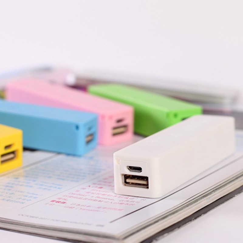 Mini Power Bank 18650 แบตเตอรี่ DIY USB ผู้ถือชุด 1x18650 สำหรับผู้ถือแบตเตอรี่ Power Bank Charger กล่องไม่มีแบตเตอรี่