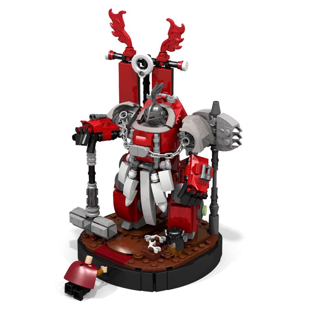 Enfants 469 pièces tige MOC marteau empereur mécha briques petites particules blocs de construction jouet éducatif coffret cadeau