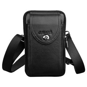 Image 3 - Neue Leder Mini Messenger Taschen für Männer Retro Business Büro Kleine Schulter Tasche Lässig Brieftasche Mini Reise Telefon Beutel #40