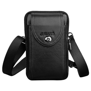 Image 3 - New Leather Mini Messenger Bags for Men Retro Business Office Small Shoulder Bag Casual Wallet Mini Travel Phone Pouch #40