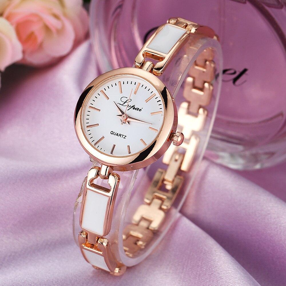 Lux Skeleton Fashion Ladies Women Unisex Stainless Steel Rhinestone Quartz Wrist Watch Round Bracelet Watch Silver Watch Women