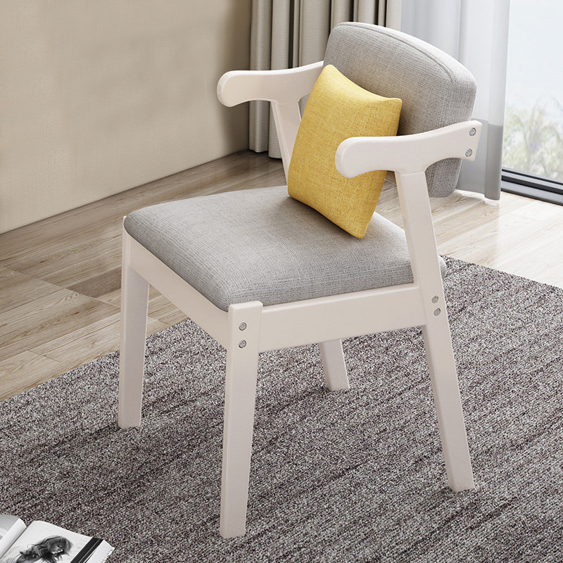 Image 2 - Home Dining Chair Fabric Cushion Side Chairs Modern Kitchen Wood Frame Chairs with Soft Seat Household Dining Side Chair-in Cleaning Brushes from Home & Garden