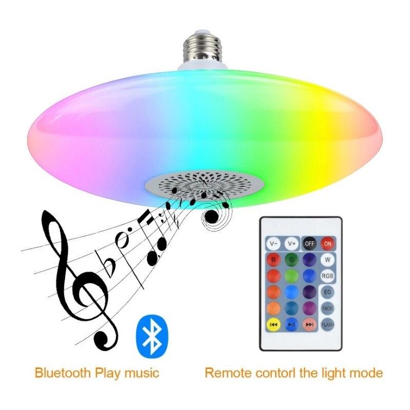 E27 LED Bulb Colorful UFO Lamp Bluetooth Speaker 10W RGBW High Power Led Color Changing Bulb UFO Wireless Audio LED Home Lightin