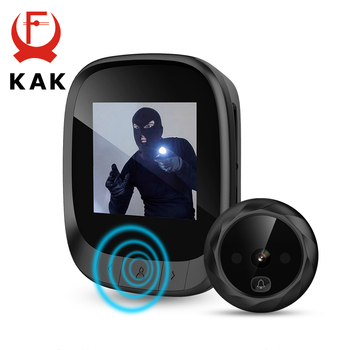"""KAK 2.4""""  LCD Screen Electronic Door Viewer Bell IR Night Door Peephole Camera Photo Recording Digital Door Camera Smart Viewer"""