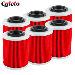 2/4/6 Pcs Cyleto Motorcycle Oil Filter for BRP CAN-AM Outlander MAX 330 400 L 450 500 570 650 Renegade 800 850 1000 800R 1000R