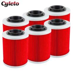 2/4/6 Pcs Cyleto Motorcycle Oil Filter for SKI DOO Expedition 800 Legend V-800 Skandic V 800 Tundra 2007 2008 2009