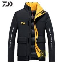 Мужская куртка для рыбалки, зимняя одежда для рыбалки Daiwa, теплая рубашка с большим карманом на молнии для рыбалки, спортивное повседневное пальто, Мужская одежда для рыбалки