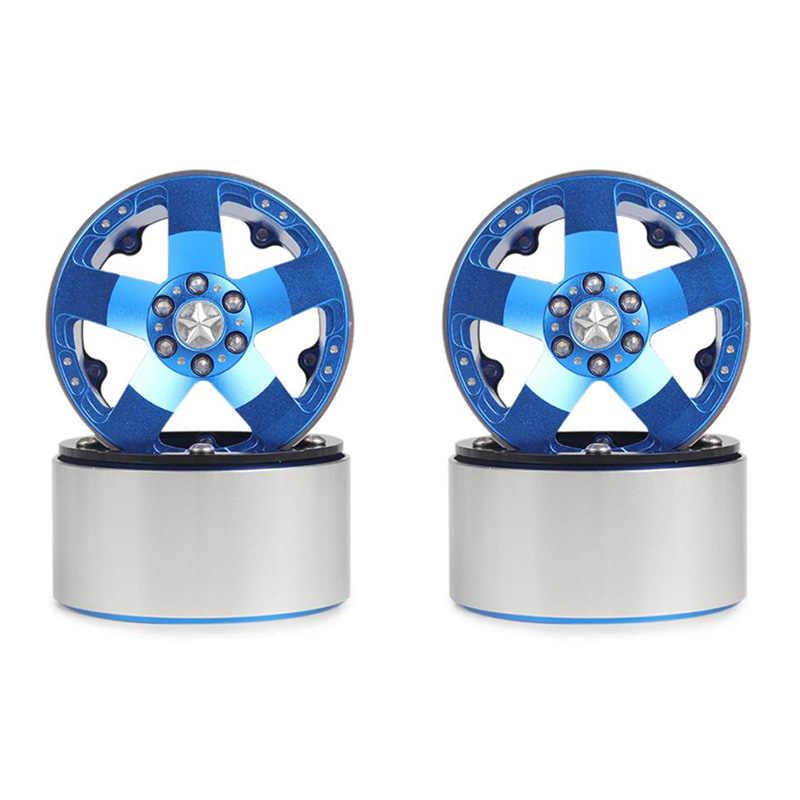 4 Uds aleación de aluminio 202 llantas para 1/10 RC orugas Axial SCX10 II 90046 para Traxxas TRX4 D90 juguetes para niños