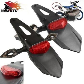 Guardabarros de motocicleta luz trasera de parada LED para HUSQVARNA TC 65 85 125 250 TE 250-511 TE250 300 FC 250 350 450 BETA RR/RS 4T RR2T