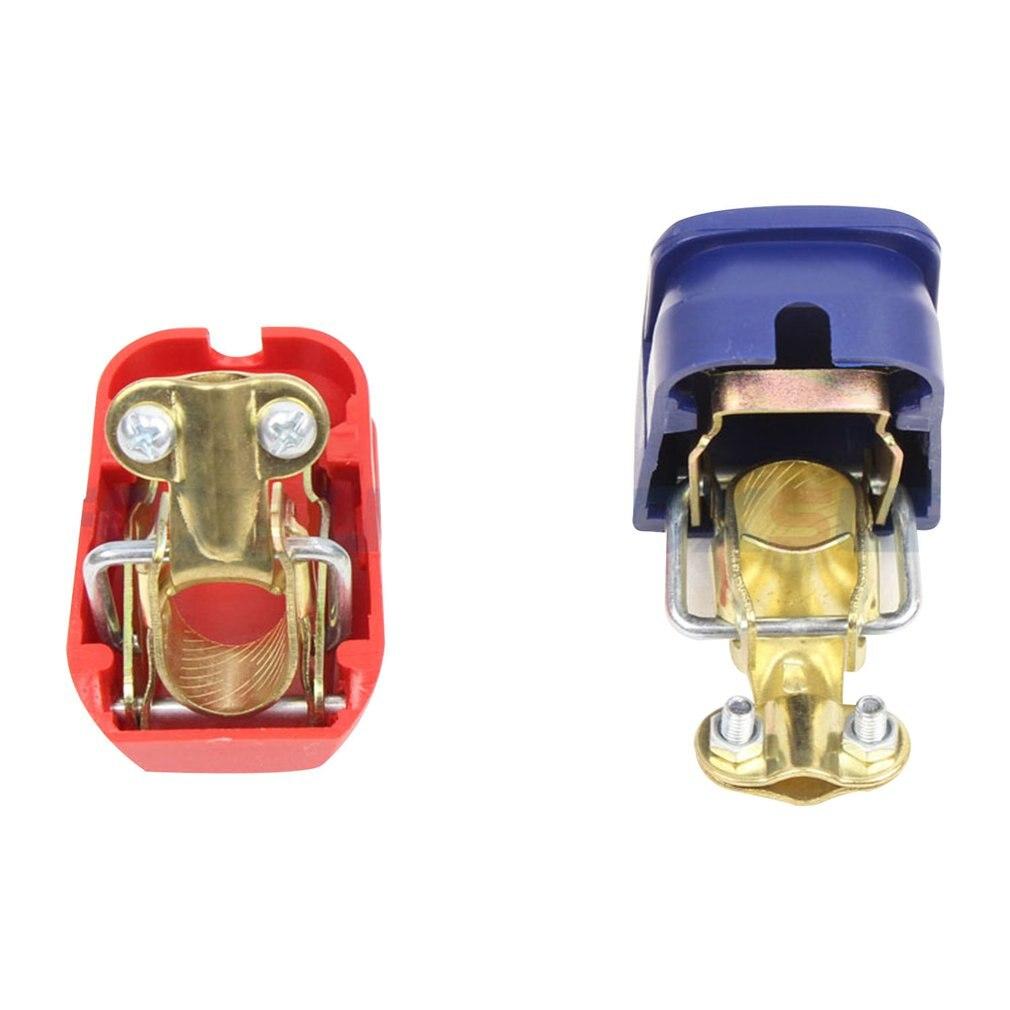 Foxsur Universal Car Battery Quick Pull Connector Switch Battery Clip Battery Head Terminal Detachable Positive Negative
