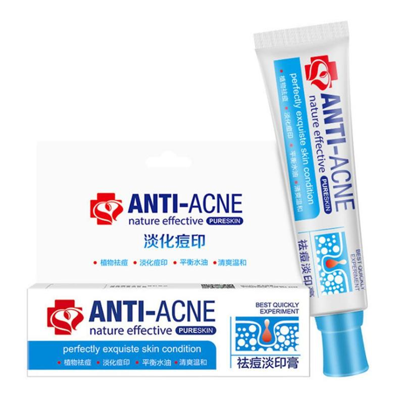 Traditional Chinese Medicine Acne Treatment Shrink Pores Spots Gel Bleaching Creams Whitening Moisturizing Face Cream