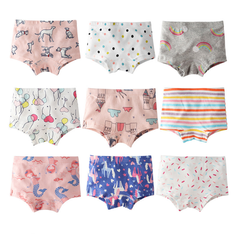 SheeCute  Girl's Toddler & Kids 3-Pack Underwear 100% Cotton Soft Panties Baby Panties Kids Briefs