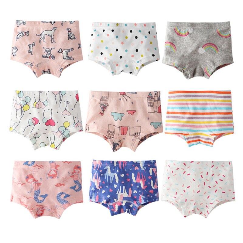 SheeCute Girl's Toddler & Kids 3-Pack Underwear 100% Cotton Soft Panties Baby Panties Kids Briefs