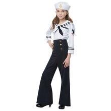 Костюм синий маскарадный костюм для девочек матросское платье
