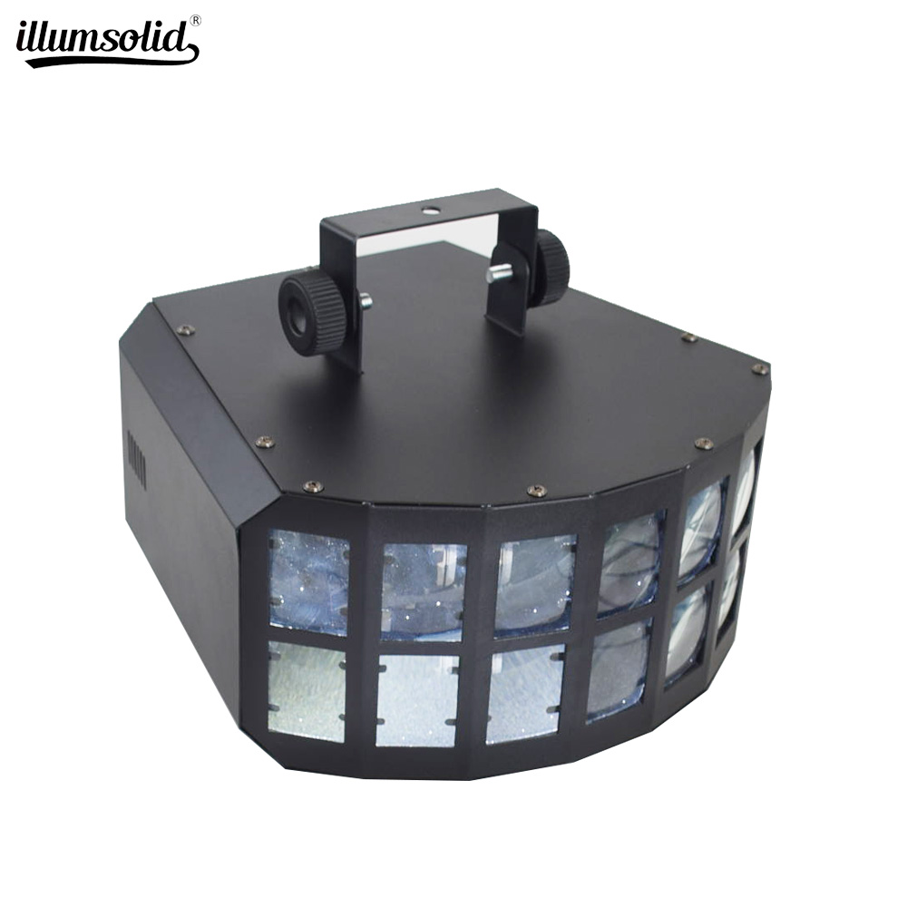 Butterfly Stage Light LED Auto Sound Control Effect Strobe Flash DMX RGBW Color MultiColor Wide Beam 27W RGBW KTV Karaoke Light