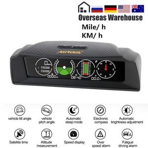 Image 1 - AUTOOL X90 GPS измеритель скорости наклона Инклинометр автомобильный HUD угол наклона транспортир широта долготы умный компас