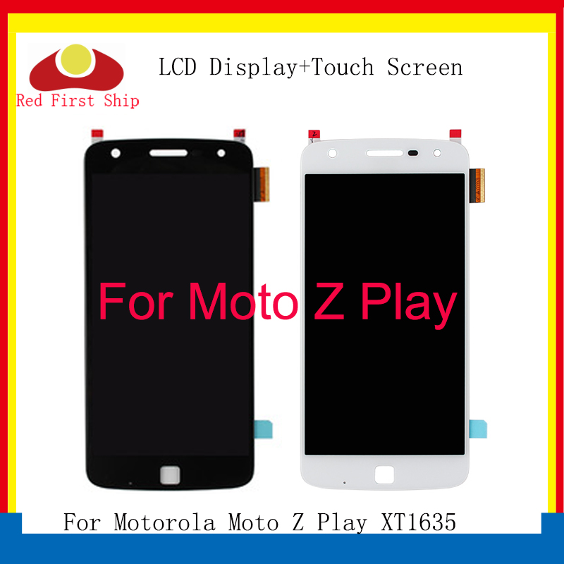 10Pcs/lot For Motorola Moto Z Play LCD <font><b>XT1635</b></font> Display LCD Screen Touch Digitizer Assembly For Moto Z Play Complete Replacement image