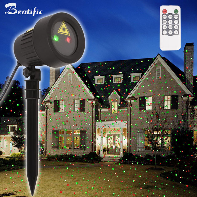 Static Dots Sky Effect Christmas Decor Lights Outdoor Lawn Laser Projector New Year Eve Holiday Lighting