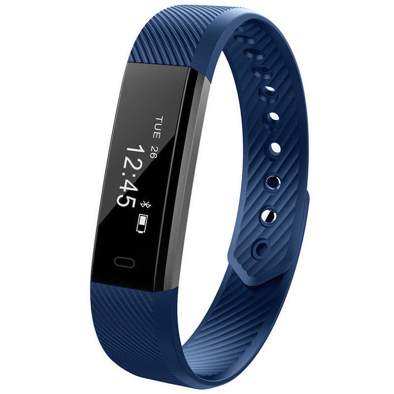 Smart Bluetooth Connected Pedometer Fitness Tracker Fit For Women Men Kids Watch Sleep Bracelet Wristband Bit Fitness Smartband in Smart Wristbands from Consumer Electronics