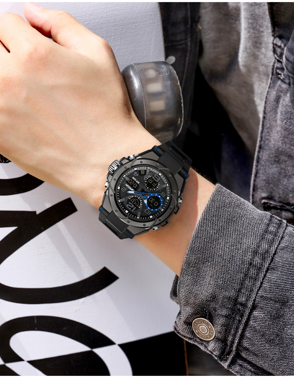 H2014ab9942844dc68feddca88789a1afg SANAD Top Brand Luxury Men's Military Sports Watches 5ATM Waterproof