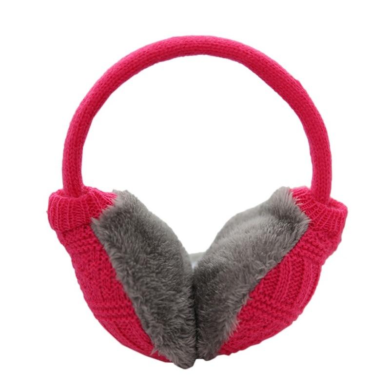 Зимние Наушники унисекс, плотные зимние теплые вязаные наушники для мужчин Wo men s Earflap Earmuffs, съемные плюшевые наушники - Цвет: R